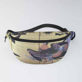 Tosa Mitsuyoshi Peafowl and Phoenixes Fanny Pack
