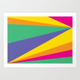 Color lighting Art Print