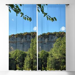 rock cliff at lim channel fjord istria croatia europe Blackout Curtain