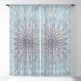 Blue Geometric Mandela - c13533.0 Sheer Curtain