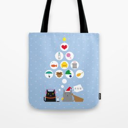 Santa Cat Tote Bag
