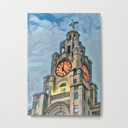 It's 5 o clock somewhere - Liverpool Metal Print