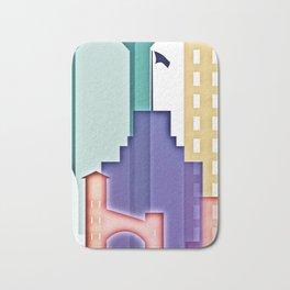San Jose colorful skyline design Bath Mat
