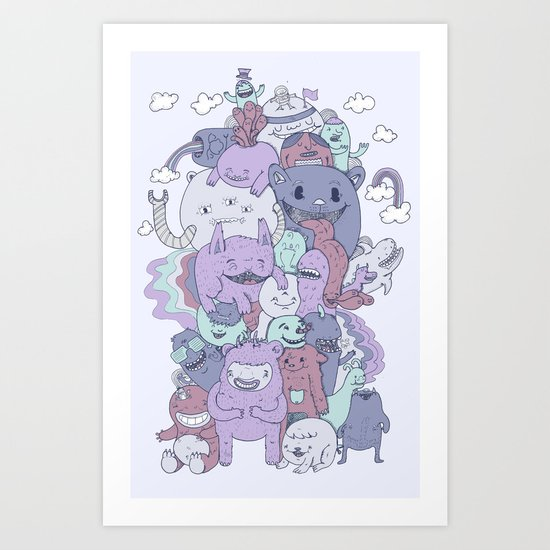 Some Friends of Mine Art Print