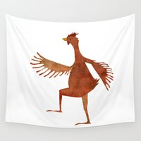 chicken Wall Tapestries featuring Chicken by Jade Young Illustrations