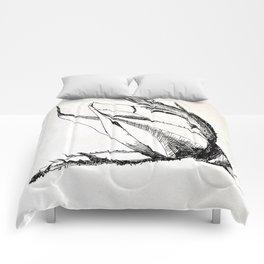 rosebud drawing Comforters