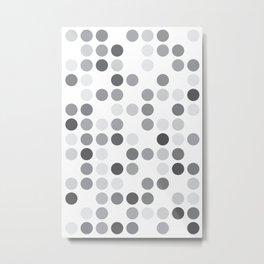 GREYS WHITE Metal Print
