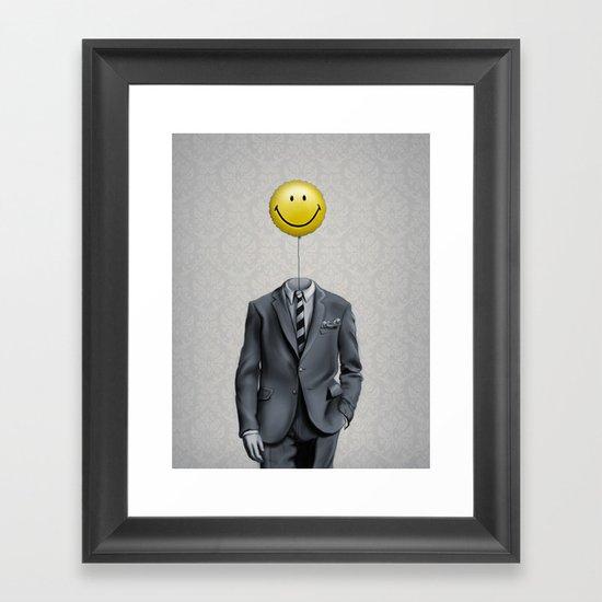 Mr. Smiley :) Framed Art Print