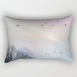 the flight of the goose Rectangular Pillow