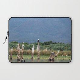 African Fish Eagle Bird Skeleton Trees Landscape Africa Laptop Sleeve