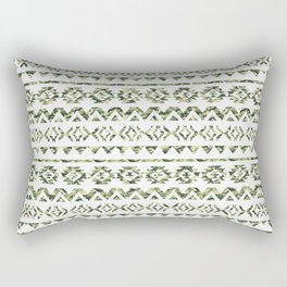 Abstract Andes Tribal Aztec Green Camo Pattern Rectangular Pillow