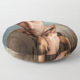 Dan Feuerriegel & Teddy the Puppy Floor Pillow