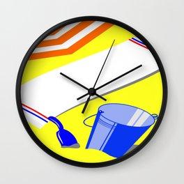 Beach arrangement Wall Clock