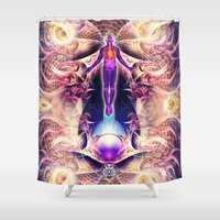 architect Shower Curtains featuring Architect of Consciousness by AC DESIGNS