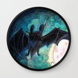 Round Bat Wall Clock