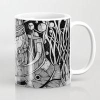 pacific rim Mugs featuring Pacific Rim by Walid Aziz