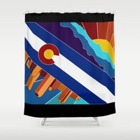 denver Shower Curtains featuring Denver, CO by HighTribe