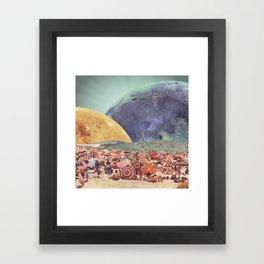 Lunar Beach Framed Art Print