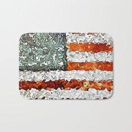 American Flag Abstract Bath Mat