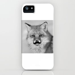 Funny Beard Growth Fox Mustache T-Shirt iPhone Case