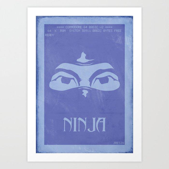 Retrogameing - Last Ninja Art Print