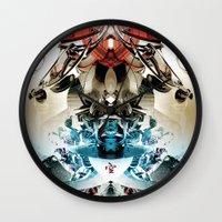 transformer Wall Clocks featuring Vacío by Andre Villanueva