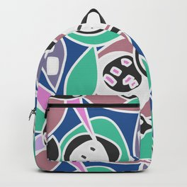 Abstract funky petals in blue Backpack