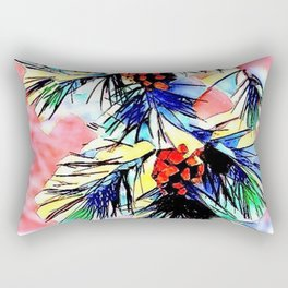Winter Collection Extra Happy Xmas this Year Rectangular Pillow