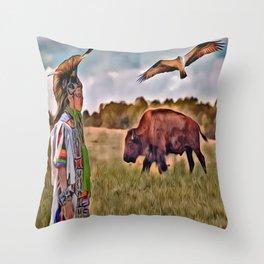 Native Lands Throw Pillow