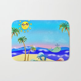 Beach Party for the Baby Crabs Bath Mat
