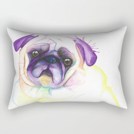 Chloe (The pug form Vancouver) Rectangular Pillow