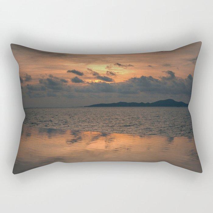Sunset on the Gulf of Thailand Rectangular Pillow