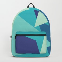 Retro Blue Mid-century Minimalist Geometric Line Abstract Art Backpack
