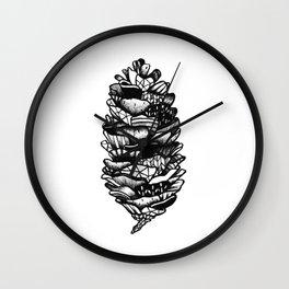 Geo Pinecone Wall Clock
