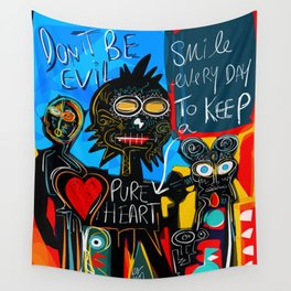 Don't be Evil Street Art Graffiti Wall Tapestry