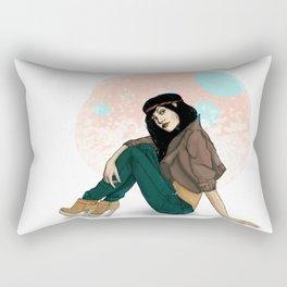 girl with hair band Rectangular Pillow