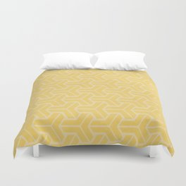 Abstract Geometric Pattern - Yellow Duvet Cover