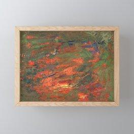 Lava and Green Framed Mini Art Print
