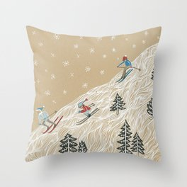 Ole Man Winter Throw Pillow