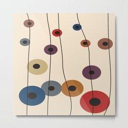 Falling Circles Abstract Metal Print