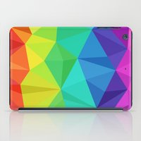 low poly iPad Cases featuring rainbow low poly by tony tudor