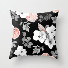 Night bloom - moonlit flame Throw Pillow