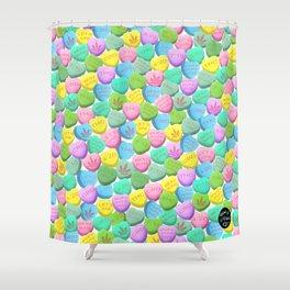 Cannabis Candy Hearts Shower Curtain