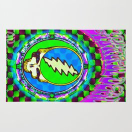 Grateful Dead #9 Optical Illusion Psychedelic Design Rug