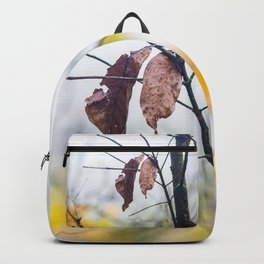 Orange leaves, trying to stay alive Backpack