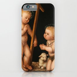 Lucas Cranach the Elder- Infant Jesus and John the Baptist as child iPhone Case