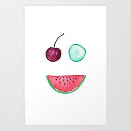 Happy Fruit II Art Print