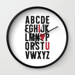 ABC I Love You Wall Clock