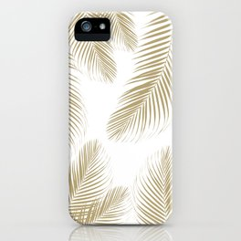 Palm Leaves - Gold Cali Vibes #3 #tropical #decor #art #society6 iPhone Case