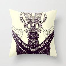 Surf Totem Throw Pillow